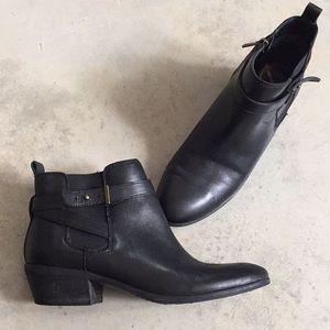 Sam Edelman Black Leather Ankle Boots Size 7.5